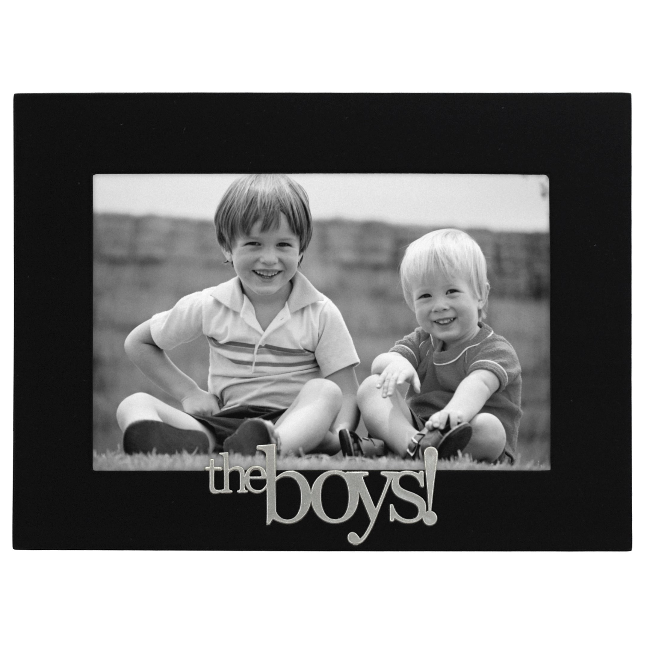 Malden International Designs The Boys! Expressions Picture Frame, 4x6, Black