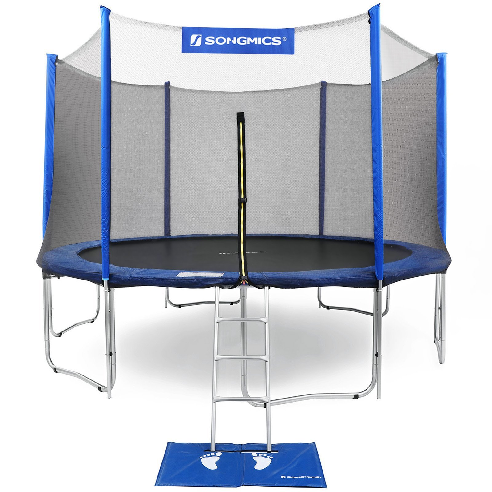 SONGMICS Outdoor Trampoline 12-Feet for Kids with Enclosure Net Jumping Mat and Spring Cover Padding TÜV Rheinland Certificated According to ASTM and GS Standard Blue USTR12FT by SONGMICS (Image #1)