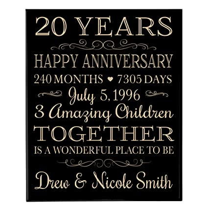 amazon com personalized 20th anniversary gifts ideas for couple
