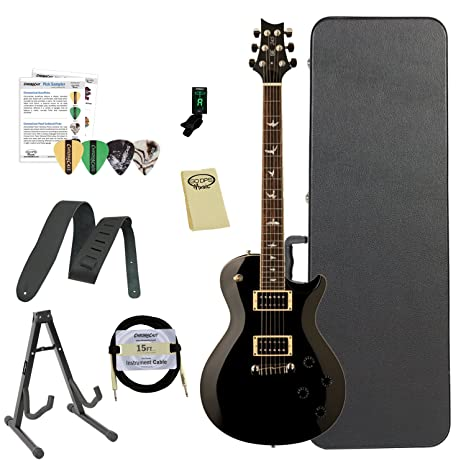 Paul Reed Smith guitarras 245stbk-kit02 PRS SE 245 Standard negro guitarra eléctrica con funda