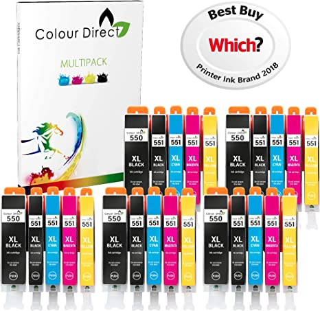 Colour Direct 25 XL (5 Juegos) Cartuchos de Tinta compatibles ...