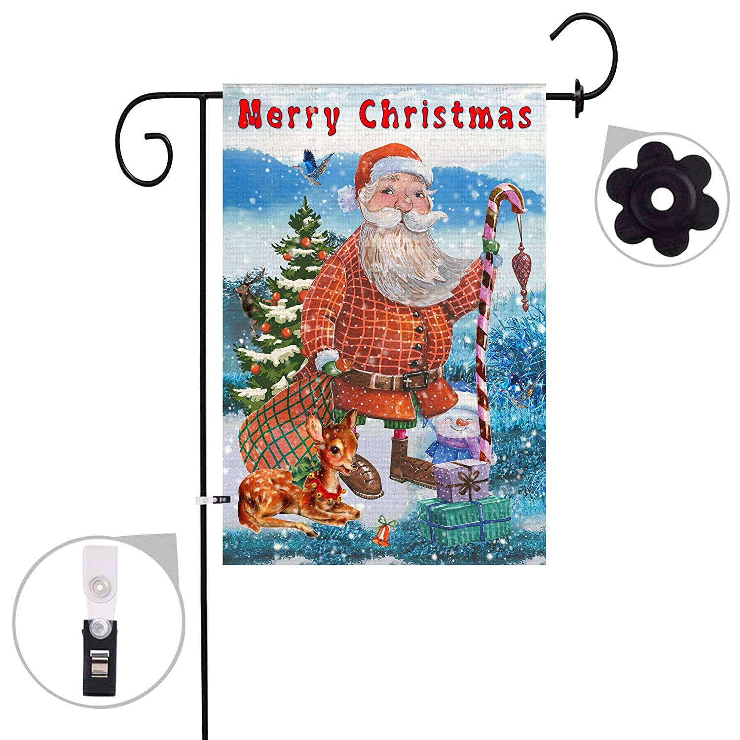 Amazon Wyfcxc Merry Christmas House Garden Flag Printing 12x18