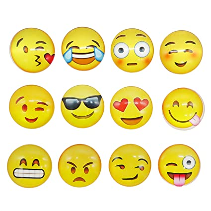 Keklle  17 2018//7//9 11:08:39 16 Pack Refrigerator Magnets Emoji Magnets Fridge Magnets 3D Funny Cute for School Lockers Accessories Set