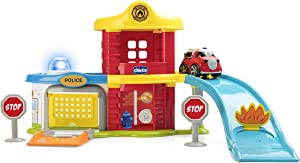 Chicco Game Police-fire Station Playset–Multicoloured, 00009358000000