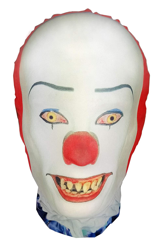 IT Pennywise Mens Fancy Dress Halloween Horror Clown Stephen King Adults Costume