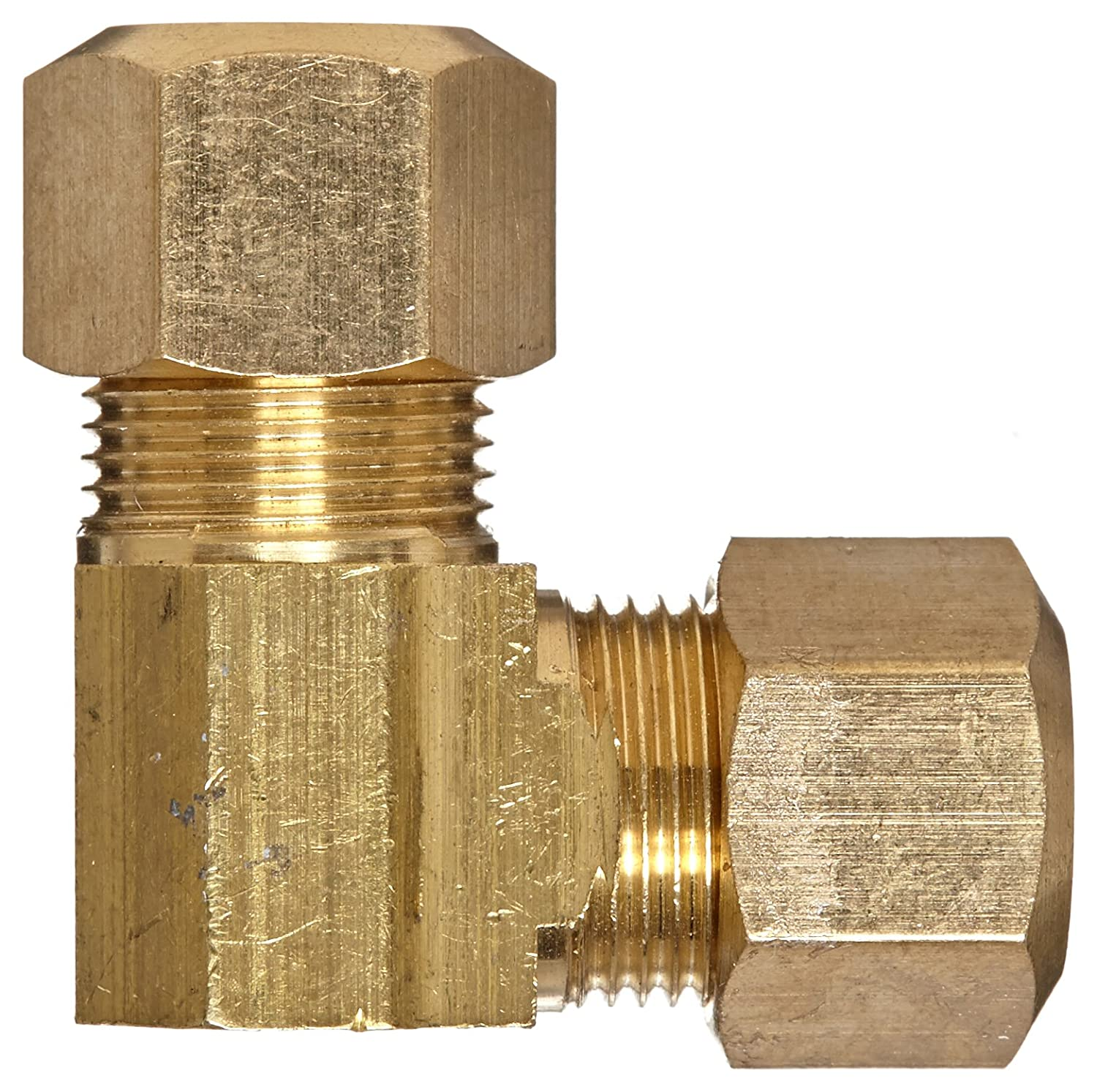 Anderson Metals 50065 Brass Compression Tube Fitting 3//8 x 3//8 Tube OD 3//8 x 3//8 Tube OD 50065-06 90 Degree Elbow
