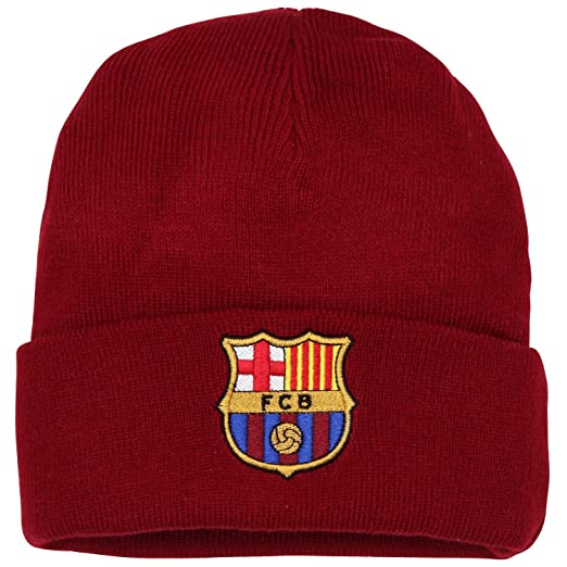 b95f02110d1 Official Soccer Football Merchandise Adult FC Barcelona Core Winter Beanie  Hat (One Size)