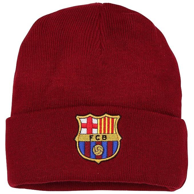 FCB FC Barcelona - Gorro Oficial de Lana de Invierno del FC Barcelona para Adultos - Fútbol/Deporte/(Talla Única/Vino): Amazon.es: Ropa y accesorios