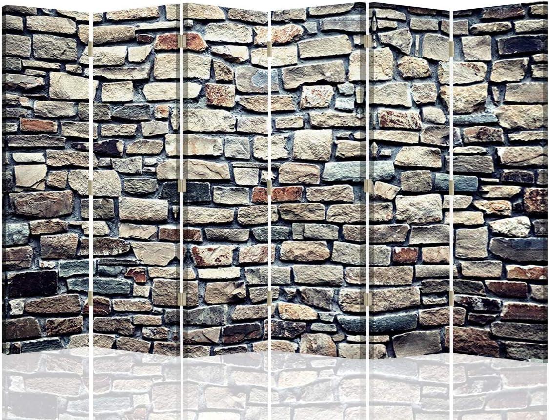 Feeby Pared Española Muro Piedras 6 Paneles Bilateral Abstracto ...