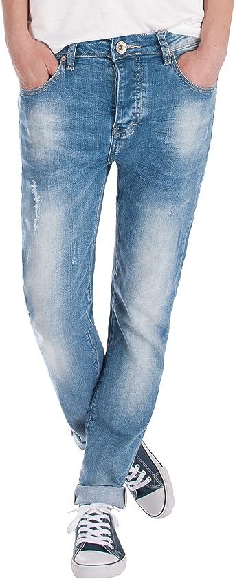Fraternel Pantalones Vaqueros Mujer Boyfriend Usado Azul Claro Xxxl 46 W36 Amazon Es Ropa Y Accesorios