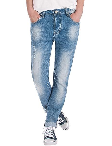 Fraternel Pantalones Vaqueros mujer boyfriend usado Azul claro L / 40 - W31