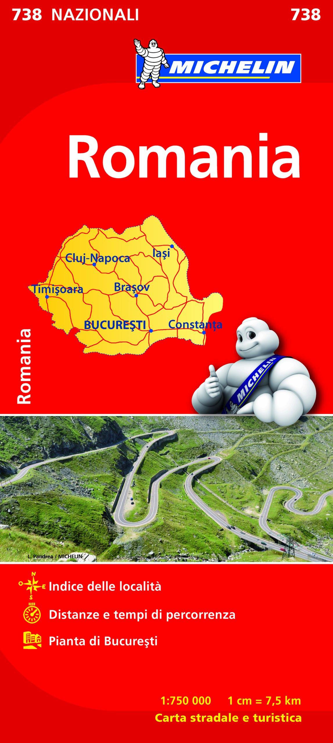 Cartina Dettagliata Romania.Amazon It Romania 1 750 000 Michelin Italiana Libri