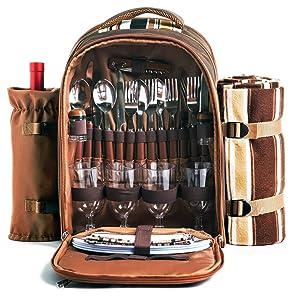 Hap Tim Picnic Backpack (Coffee)
