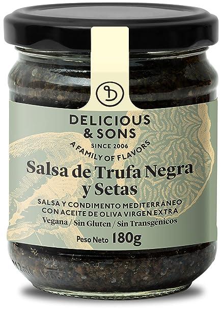 Delicious & Sons Salsa de Trufa Negra y Champiñones 180g: Amazon.es: Alimentación y bebidas