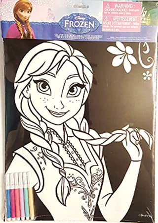 Amazoncom Frozen Character Velvet Coloring Sheet with Markers