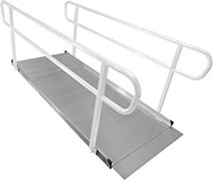 Titan 8' Aluminum Wheelchair Entry Ramp Only Solid Surface Scooter Mobility Access
