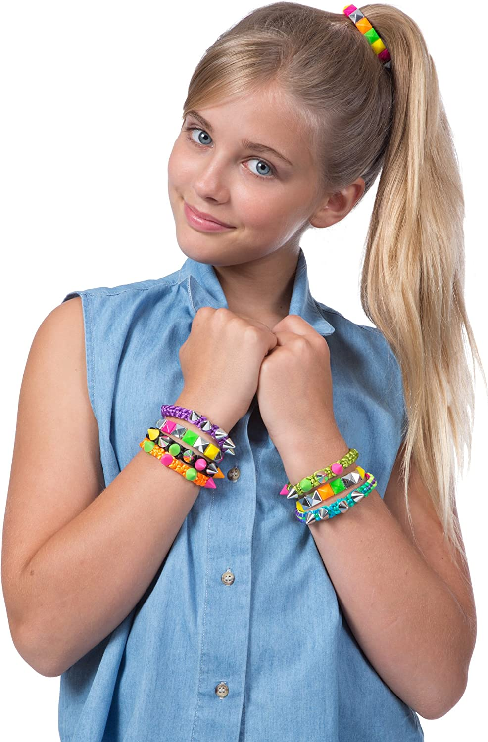 Beaded Spikes Neon Jewelry Set Creative Kids