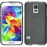 PhoneNatic Silikon Schutzhülle für Samsung Galaxy S5 brushed silber