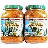 Dulcie Organic Unrefined Natural Cane Sugar (2 x 2 LB Jar)