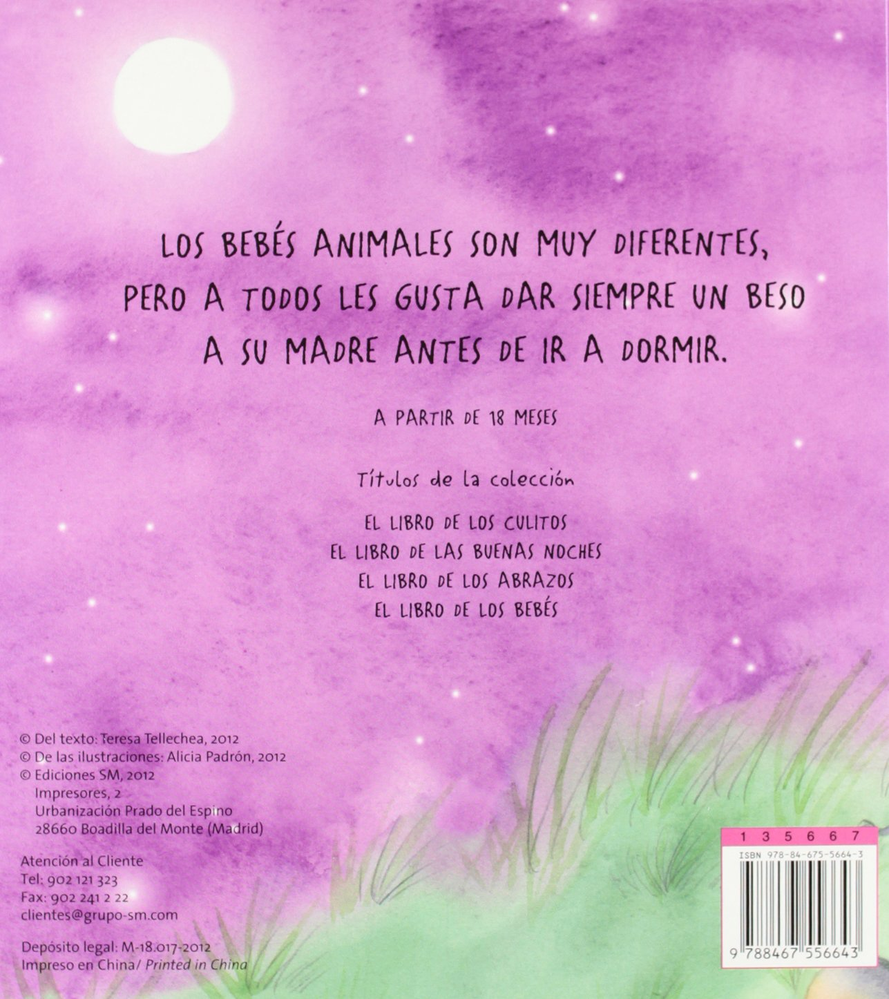 Un beso antes de dormir (Libros de cartón): Amazon.es: Teresa Tellechea,  Alicia Padrón: Libros