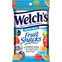 Welch's Fruit Snacks, Mixed Fruit, Gluten Free, 5 oz Bags (Pack of 12)