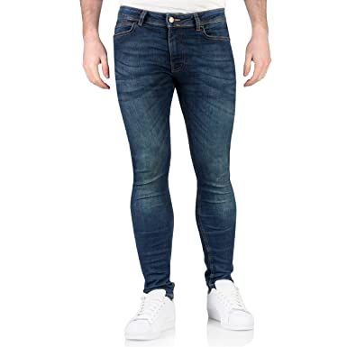fc9ad9c5259b Topman Mens Spray on Super Slim Fit Stretch Skinny Jeans  Amazon.co.uk   Clothing
