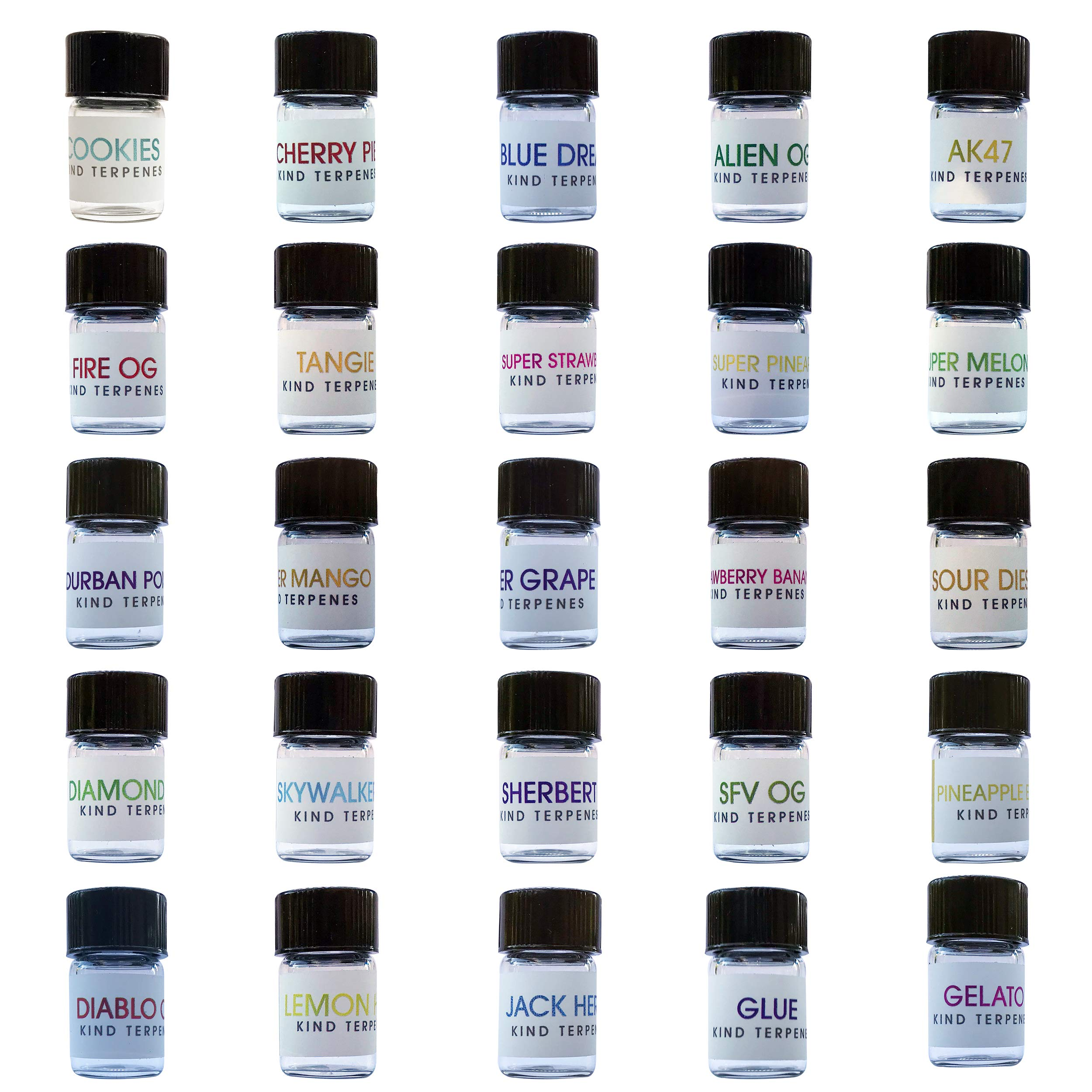 Kind Terpenes - 25 x 1ml Classic Collection Strain Specific Terpenes Profile Solution Concentrate