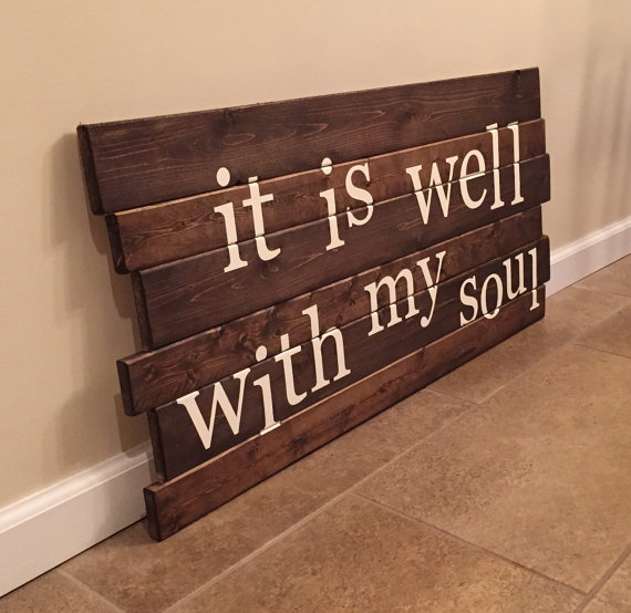 It Is Well With My Soul wood wall art by MittenMadeDesigns