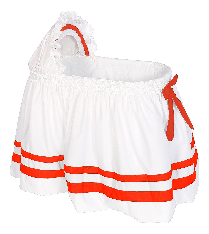 Baby Doll Bedding Modern Hotel Style II Bassinet Skirt, Orange by BabyDoll Bedding   B00YWHY6IO