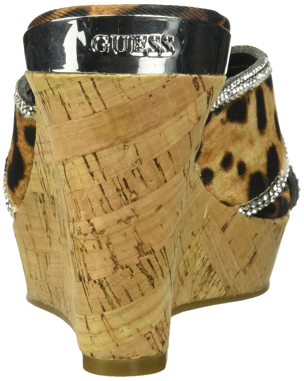 GUESS Women's ELEONORA4 Wedge Sandal B074VKQVPS 8 B(M) US|Brown