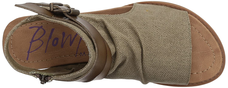Blowfish Women's Balla Wedge Sandal B07FBWMR3F 38-39 M EU / 8.5 B(M) US|Green