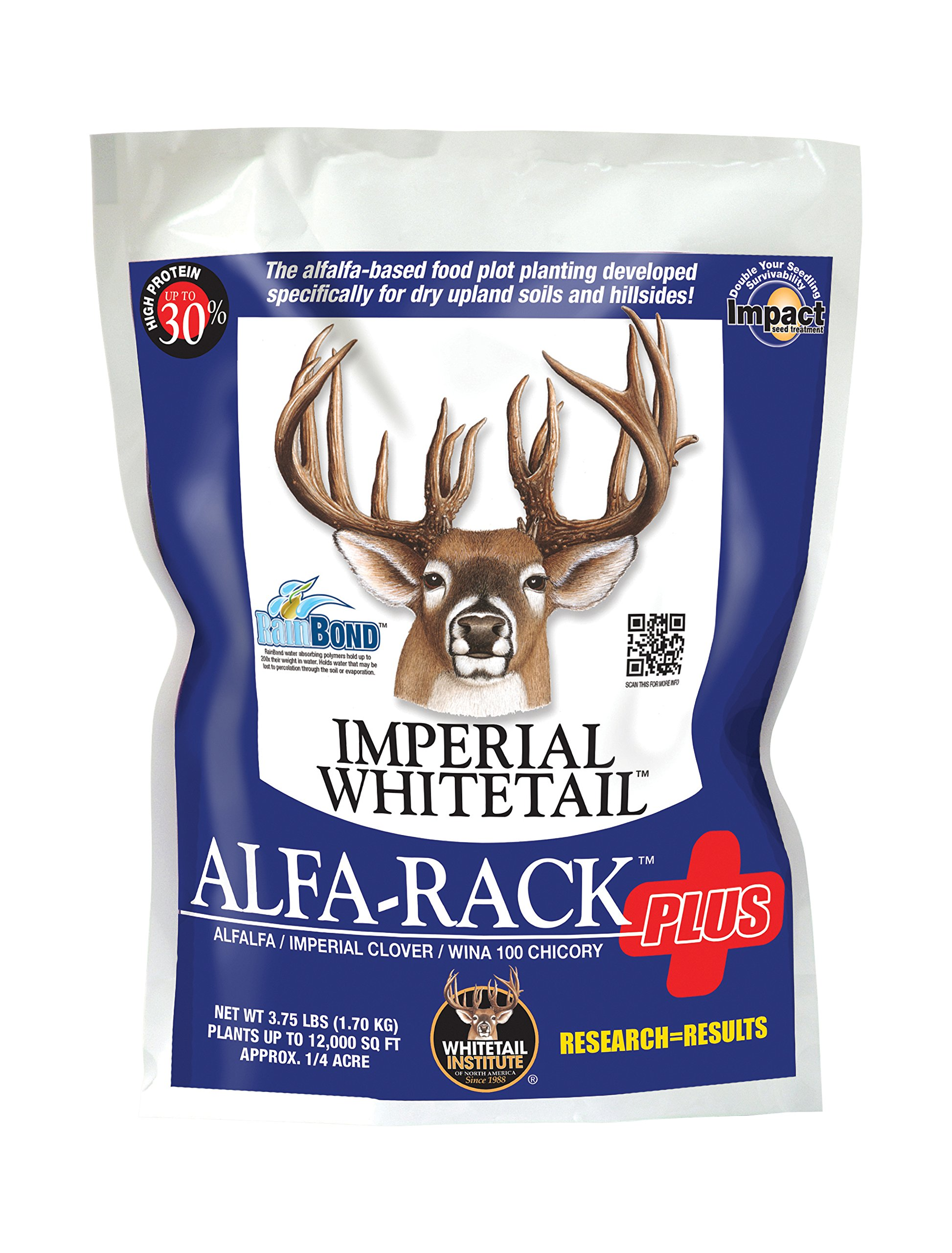 Whitetail Institute Imperial Alfa-Rack Plus Food Plot Seed (Spring and Fall Planting), 3.75-Pound (.25 Acres) by Whitetail Institute