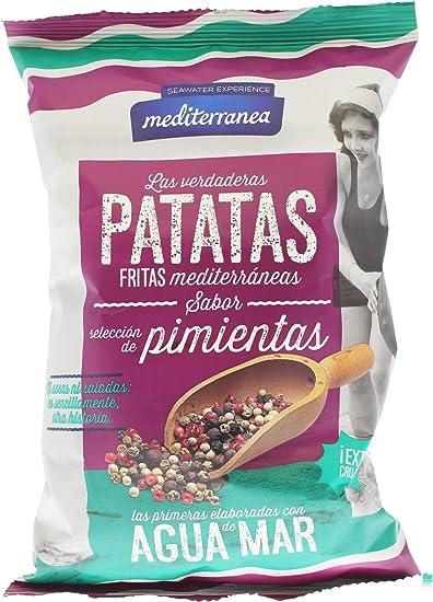 Patatas fritas Mediterranea sabor selección de pimientas, elaboradas con aceite de oliva y agua de