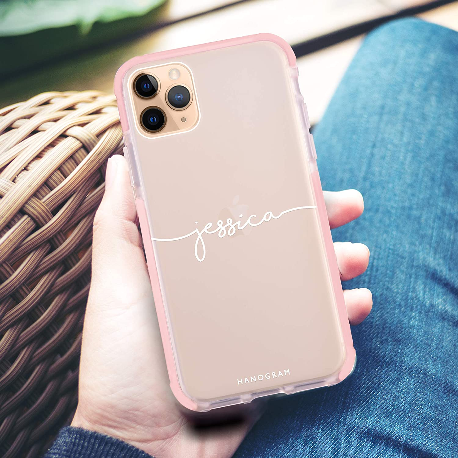 iPhone 11 Pro Max Custom Your Name Handwritten Frosted Bumper Case Personalized Phone Case iPhone 11 iPhone 11 Pro Hanogram Case