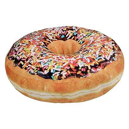 Cojín Decorativo en Forma de Donut - Chocolate Iced Glazed ...