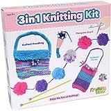 Kreative Kids 3 In 1 First Knitting Kit For Children