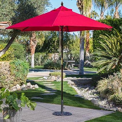 Belham Living 7.5 Ft Sunbrella Commercial Grade Aluminum Wind Resistant  Patio Umbrella