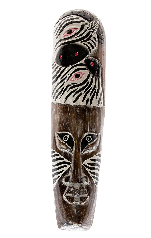 50cm Legno Mask Maschera scultura Zebra Africa HM5000008 Ciffre