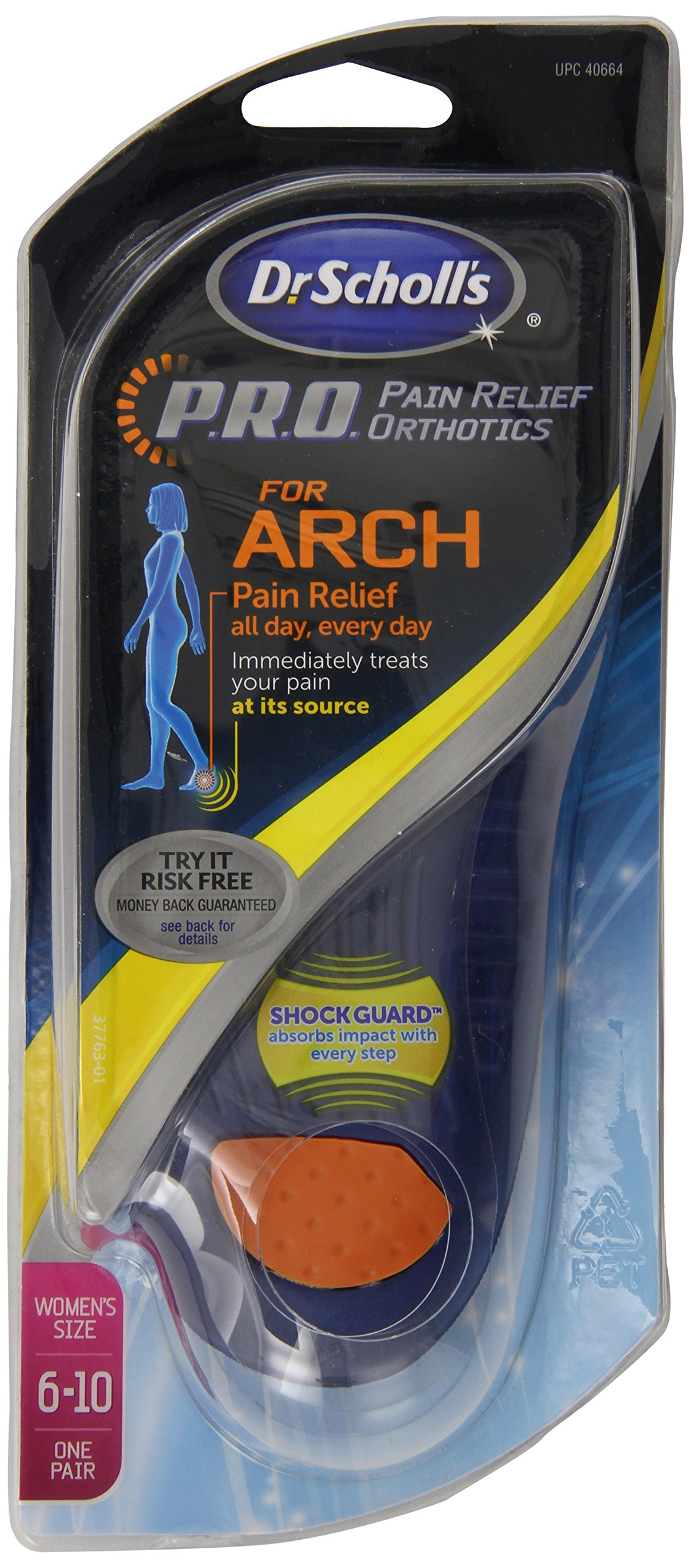 Dr Scholl's Arch Pain Relief Orthotic Womens, Sizes 6 - 10