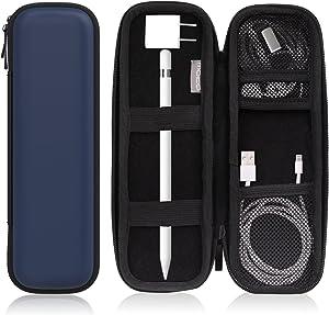 MoKo Holder Case Fit Apple Pencil 1st & 2nd, PU Leather Case for Samsung Stylus Pen Surface Pen, Fit New iPad 8th Gen 2020/7th Gen 10.2/iPad Air 4th Gen/iPad Pro 11 & 12.9 2020, Navy Blue