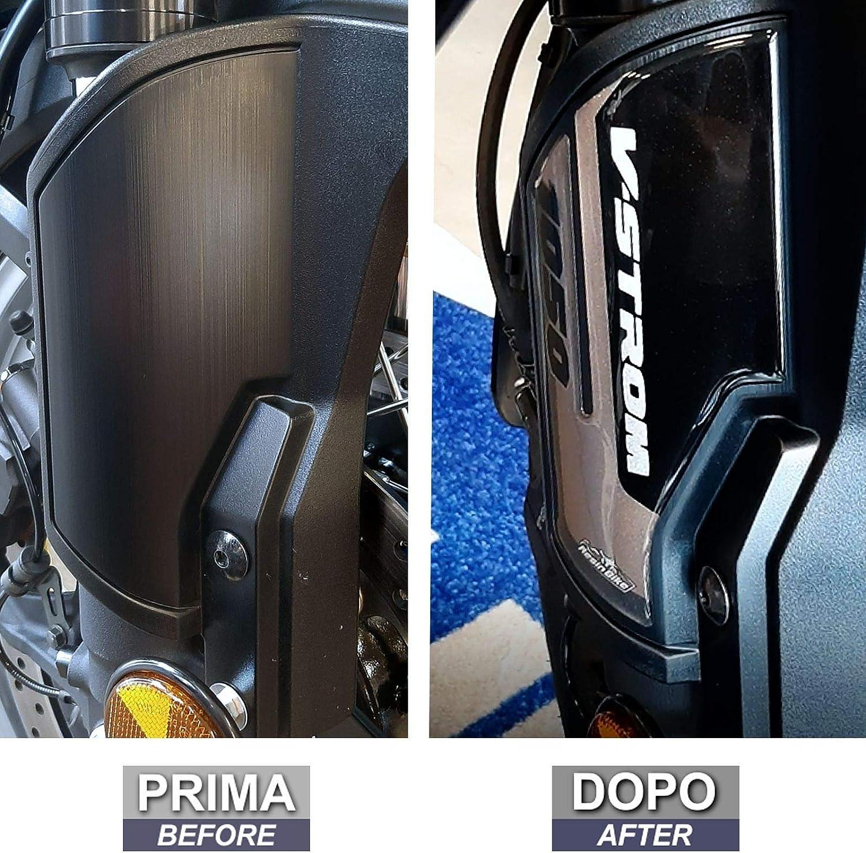 Adhesivos 3D Para Protectores de Horquilla Compatible Con Suzuki 2020 V-Strom 1050XT Negro