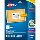Avery Shipping Address Labels, Laser Printers, 150 Labels, 3-1/3x4 Labels, Permanent Adhesive, TrueBlock (5264), White