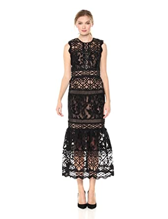 afe13d88784 ML Monique Lhuillier Women s Fitted Lace Cocktail Dress at Amazon ...