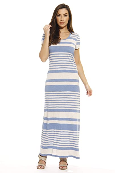 a224c594dc4b67 Just Love Short Sleeve Maxi Dress Summer Dresses at Amazon Women's ...