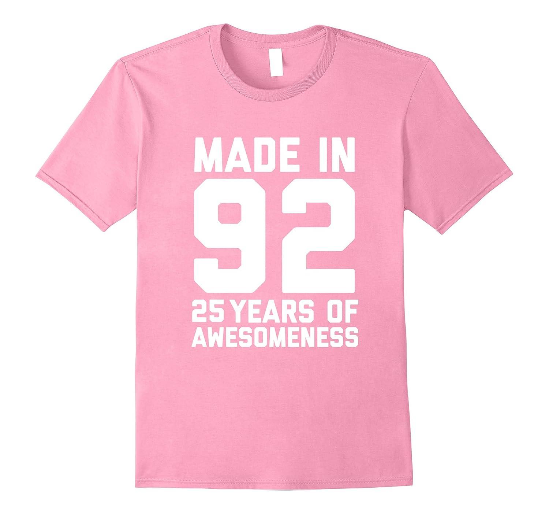 25th Birthday Shirt Gift Age 25 Year Old Mens Womens Tshirt-T-Shirt