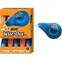 10-Pc BIC Wite-Out Brand EZ Correct Correction Tape