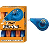 BIC WOTAP10- WHI Wite-Out Brand EZ Correct Correction Tape, 10-Count, White