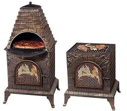Amazon Com Deeco Dm 0039 Ia C Aztec Allure Cast Iron Pizza Oven
