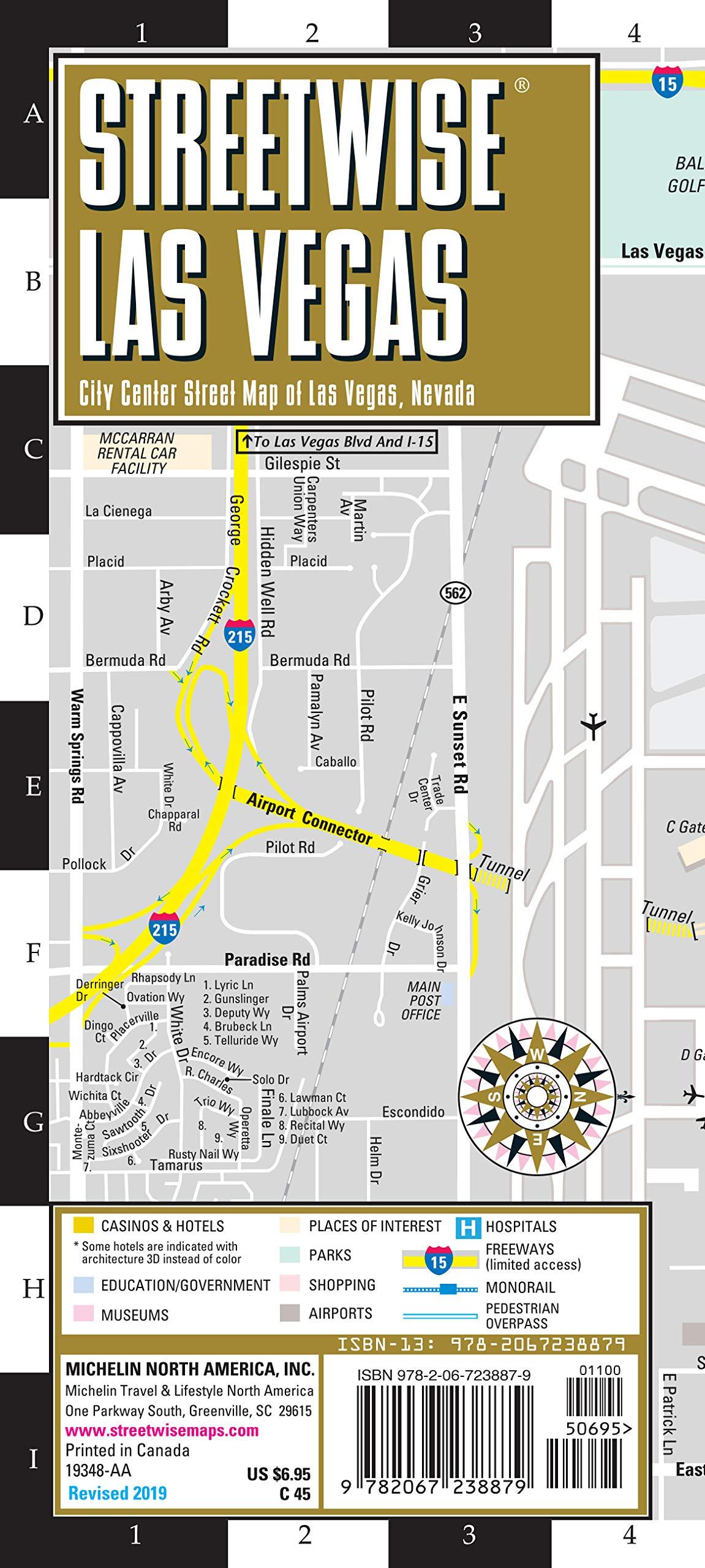 Buy Streetwise Map Las Vegas Laminated City Center Street Map Of