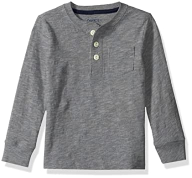 648f07c01 Amazon.com: OshKosh B'Gosh Boys' Toddler Pocket Henley Tees: Clothing